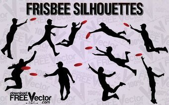 Free Vector Frisbee Silhouettes