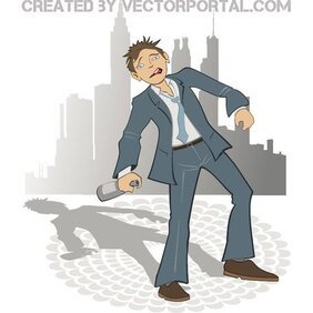 DRUNK MAN VECTOR.eps