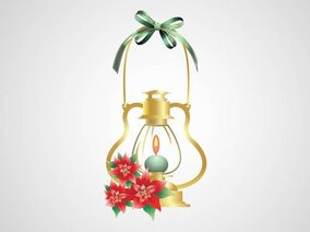 Brandende kaars decoratieve Christmas Lamp