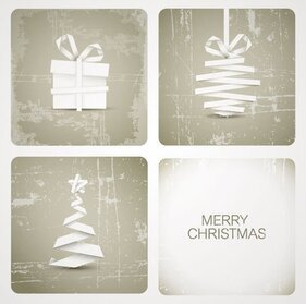 Merry Christmas Card Vectors (Free)
