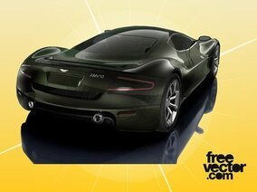 Black Aston Martin AMV10 Car