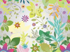 Funky Flower Garden Colorful Background