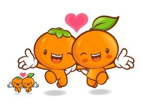 Love the cartoon super fruit Vector 9