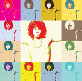 Pop Art Jim Morrison dörrar affisch