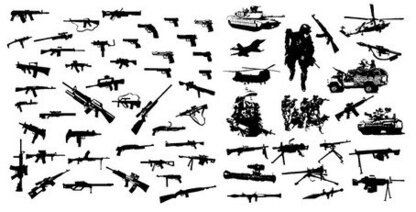 Vector material of modern weapons and equipment