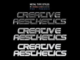 Metal Type (Free PSD)