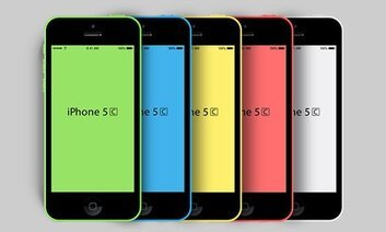 Novo iPhone 5C PSD Mockup