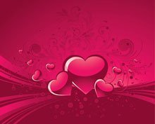 Valentines Floral Decorative Background