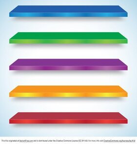 Colorful Shelf Vectors