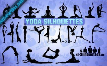 22 Vector Yoga Silhouettes