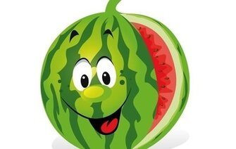 Cartoon-Wassermelone