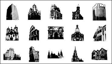 Go Media produced vector material - Continental ancient architecture