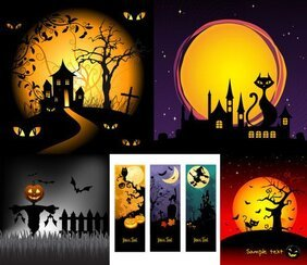 Halloween horror cartoon illustration