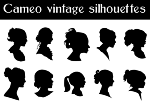 Free Vector Cameo Silhouettes