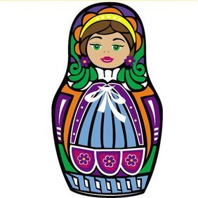 MATRYOSHKA docka VECTOR ART.eps