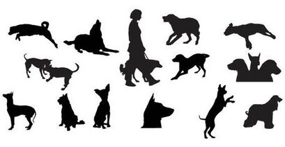 Dog Silhouettes Free