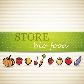 Vegetable Menu Background