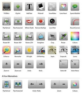 Image processing icon material