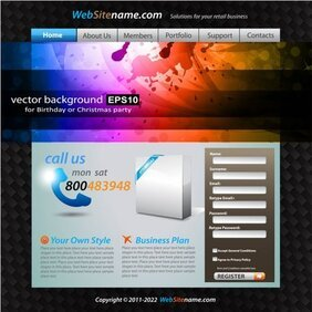 The trend of dynamic website templates 02