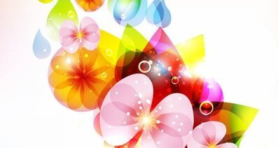 Colorful Flower Vector Colorful Flower Vectors Floral Vector Flower