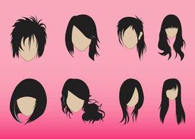 Frisuren-Graphics-Set