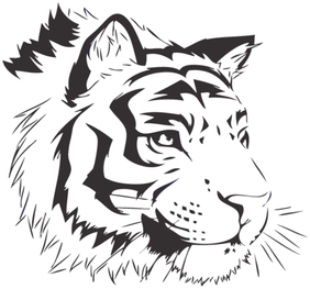 Bengal Tiger Vector Image Free