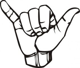 Sign Language Y Hang Loose