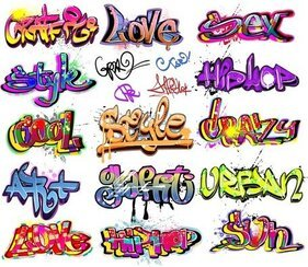 Beautiful Graffiti Font Design 01