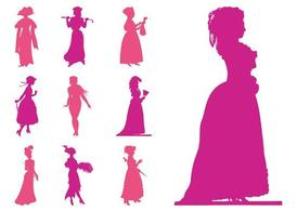 Retro Women Silhouettes