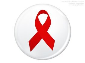 PSD World AIDS Day badge