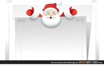 Cartoon Santa with message