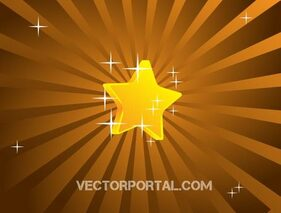 Vector Retro Star Background Design