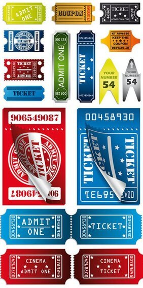 Vector material label ticket stub picture