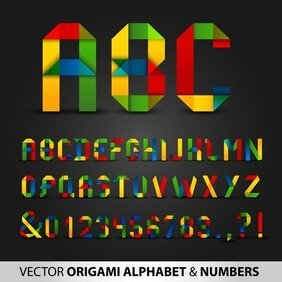 Colorful Origami Letters And Numbers