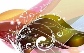 Abstract Swirl Floral Vector Art