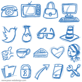 Vector Sketch Icons