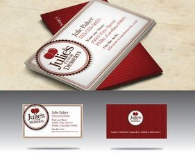 Vintage Baker Shop Business Card