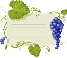 Purple Grape Theme Bulletin Board