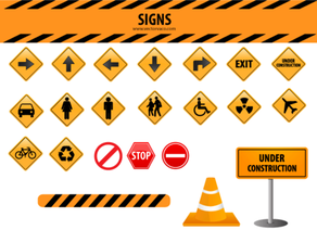 Free Signs Vector Set