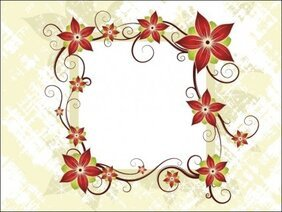 Silk Flower Design Card
