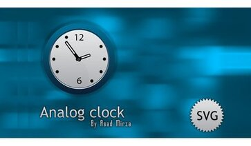 Free Svg Analog Clock Image