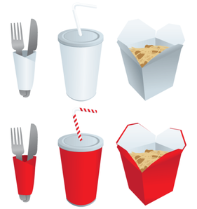 Vector Fast Food Elements Set Free