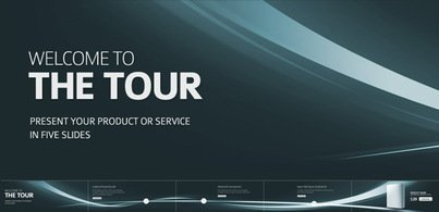 Five slides as presentation tour (Free PSD)