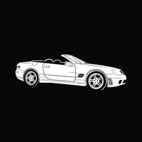 MERCEDES BENZ bil gratis VECTOR.eps