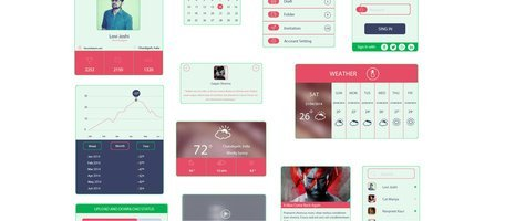 Colorful Flat UI Elements Kit