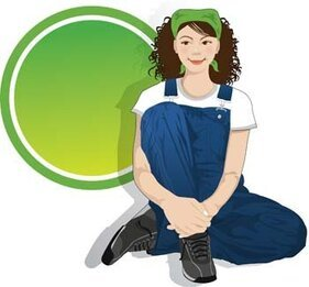 Sit girl position vector 8