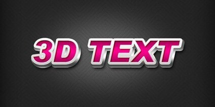 Photoshop'ta 3D text effect oluşturma