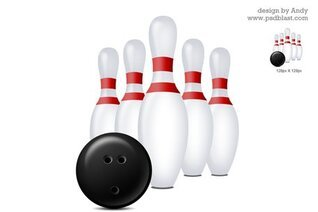 Bowling icon PSD