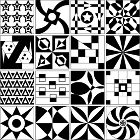 Tile Design Patterns Vector Free