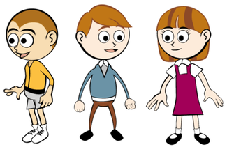 Free Cartoon Children Vector Art